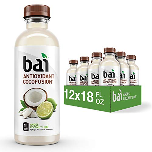 Bai Coconut Flavored Water, Andes Coconut Lime, Antioxidant Infused Drinks,...