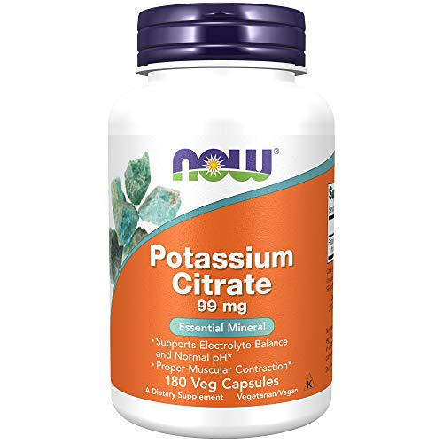 NOW Supplements, Potassium Citrate 99 mg, Supports Electrolyte Balance and...