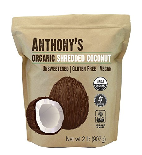 Anthony's Organic Shredded Coconut, 2 lb, Unsweetened, Gluten Free, Non...