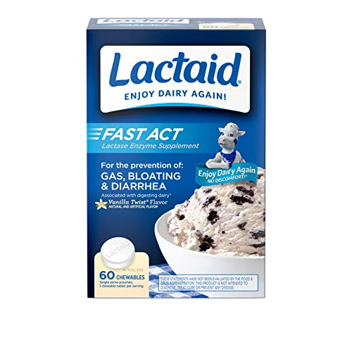 Lactaid Fast Act Lactose Intolerance Chewables with Lactase Enzymes,...