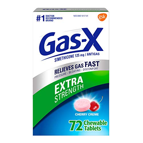 Gas-X Extra Strength Chewable Gas Relief Tablets with Simethicone 125 mg,...
