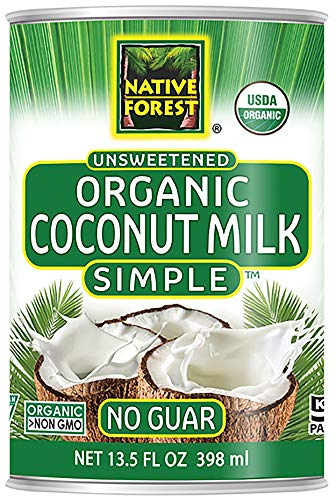 Native Forest Simple Organic Unsweetened Coconut Milk, 13.5 Fl Oz (Pack of...