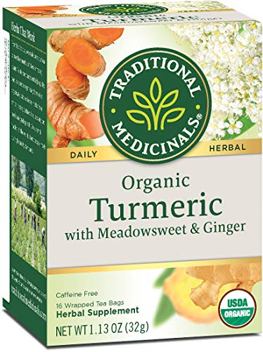 Traditional Medicinals Organic Turmeric with Meadowsweet & Ginger Herbal...